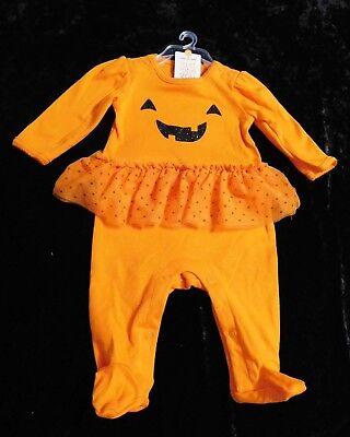 Halloween Carters Infant Girls Pumpkin Tutu Sleeper (3 Months-9 Months) NEW!
