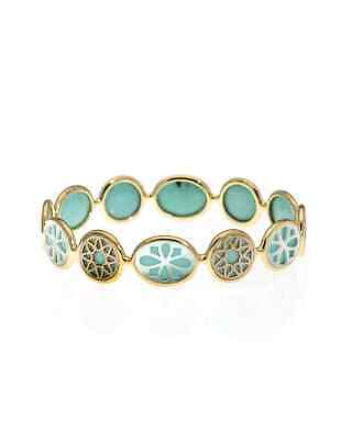 Ippolita Rock Candy 18k Yellow Gold Turquoise And Mop Bangle Bracelet GB635ISOLA