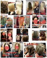 Japanese hair straightening, keratin, Hairextensions