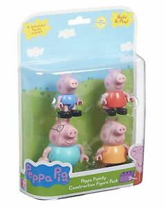 Peppa Pig Family Construction Figure Pack (Multi-Colour)