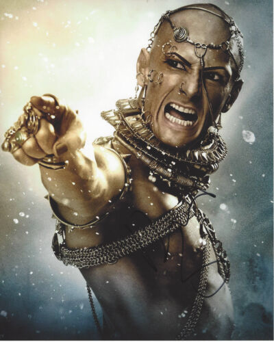 RODRIGO SANTORO SIGNED AUTHENTIC 300 'XERXES' 8X10 PHOTO D w/COA ACTOR WESTWORLD