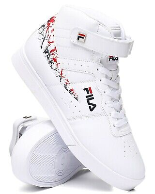 NEW MEN'S FILA VULC 13 MARBLE FLAG RED WHITE BLUE CLASSIC HIGH TOP SNEAKERS