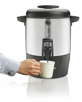 Coffee Urn 40 Cup Metal Temperature Control Commercial Electric Brewer Maker New