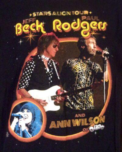 2018 Stars Align Tour T-Shirt Jeff Beck Paul Rodgers Ann Wilson Heart Dates sz L