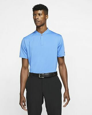 NIKE TIGER WOODS TW BLADE GOLF POLO - PACIFIC BLUE - M
