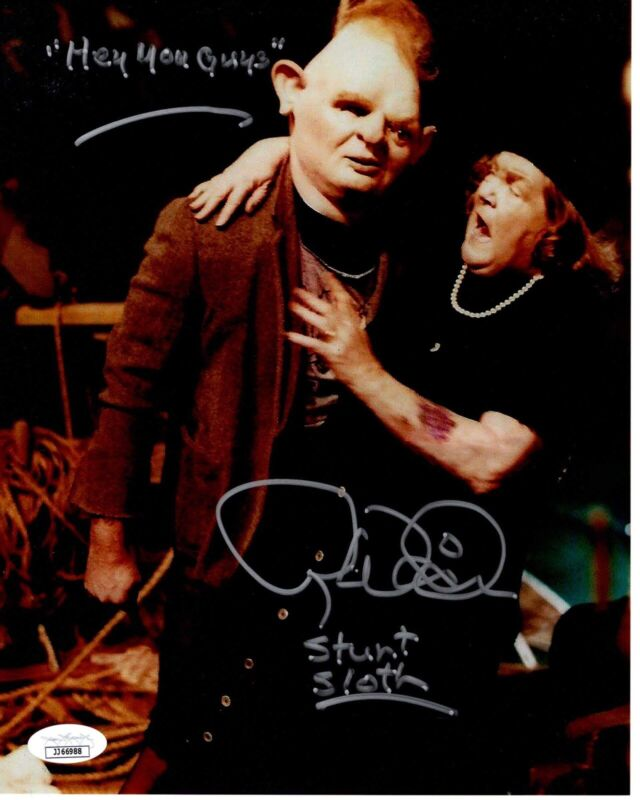 Randell Widner signed 8x10 Photo THE GOONIES Stunt SLOTH JSA Authentication