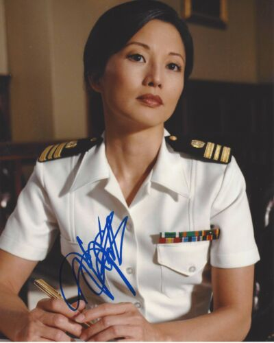ACTRESS TAMYLN TOMITA SIGNED NCIS 8X10 PHOTO W/COA KARATE KID JOY LUCK CLUB