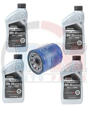 GENUINE HG 0W-20 Synthetic Oil (4 qts) + Honda Oil Filter - Oil Change Kit