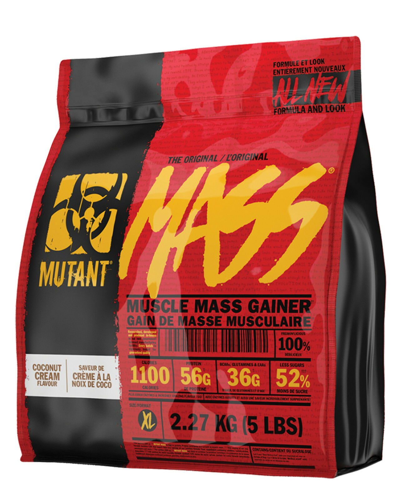 Mutant Mass Weight Gainer 2,27kg Neue Version Muskelaufbau Kohlenhydrate Masse