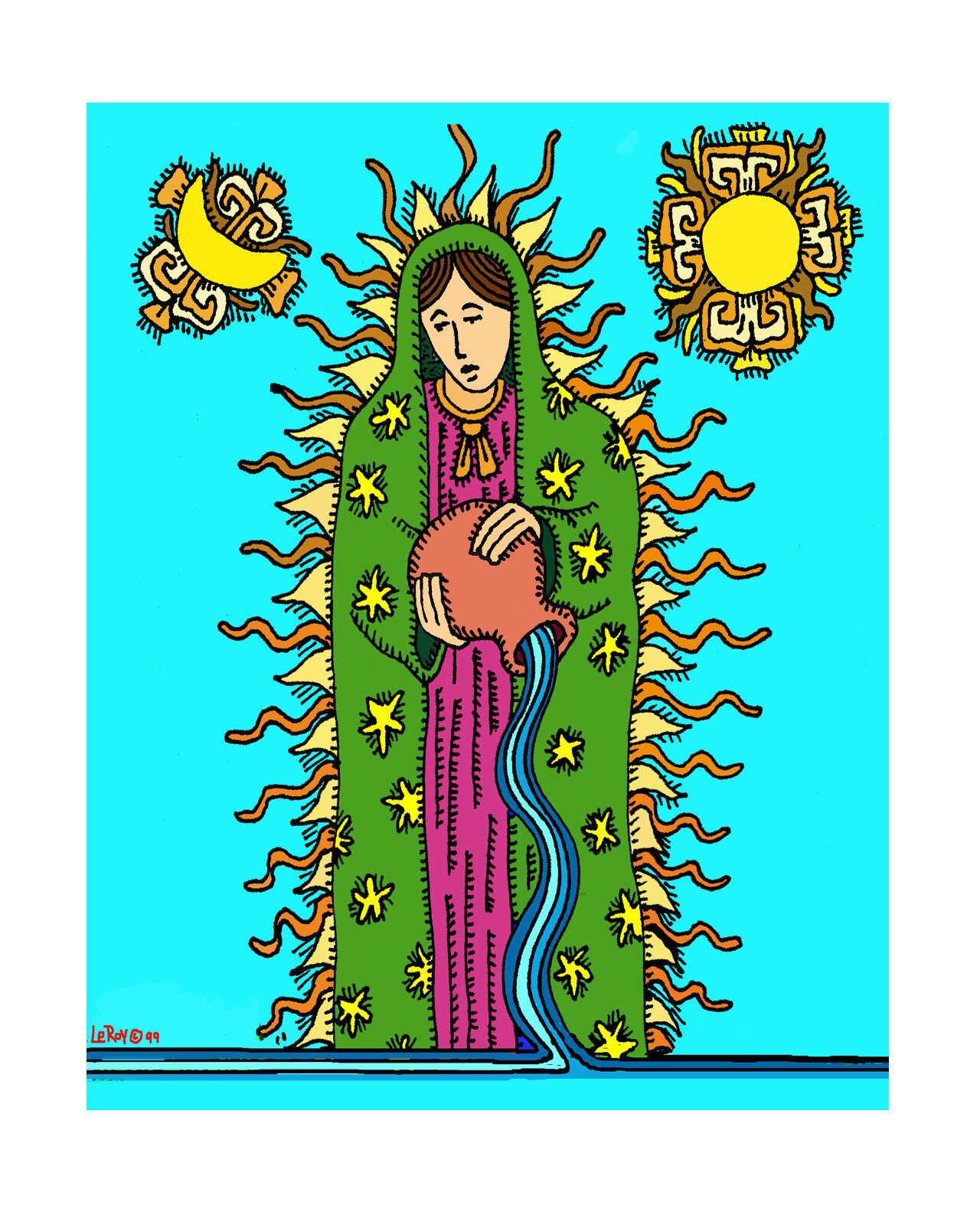 CANDELITO - FINE ART PRINT FROM ORIGINAL DRAWING - LUPE AGUA  - $11.99