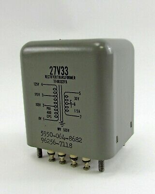 Thordarson 27v33 Tf4rx02fb Rectifier Transformer - 535 Max. Wkg Voltage