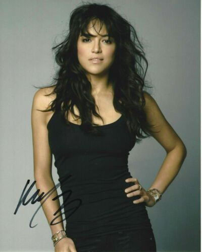 MICHELLE RODRIGUEZ SIGNED 'THE FAST & FURIOUS' 8x10 MOVIE PHOTO 4 COA LETTY 7 9