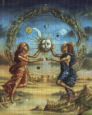 SUN AND MOON BLOTTER ART
