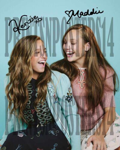 Maddie & Mackenzie Kenzie Ziegler 8x10 SIGNED REPRINT Dance Moms #2