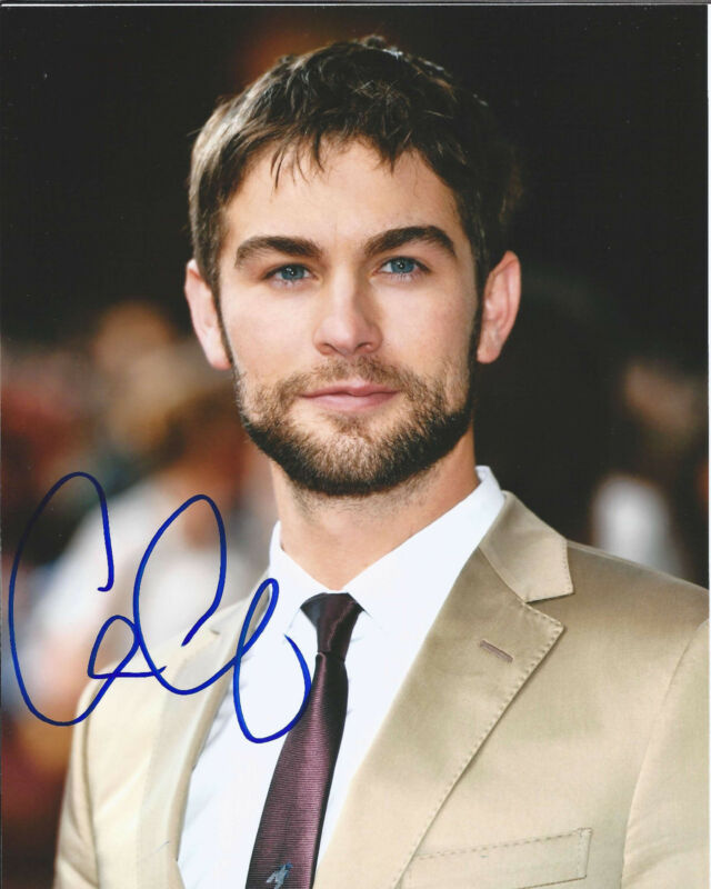 "CHACE CRAWFORD HAND SIGNED AUTHENTIC GOSSIP GIRL ""NATE"" 8X10 PHOTO F w/COA ACTOR"