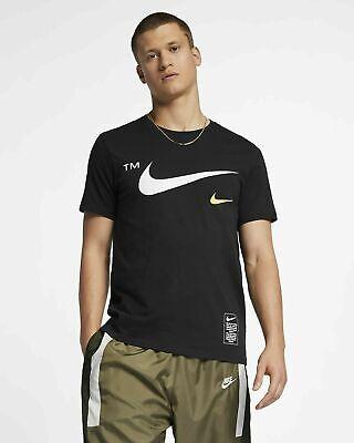 Nike Sportswear Microbranding Tee Black T-Shirt BV3061-010 Size M XL