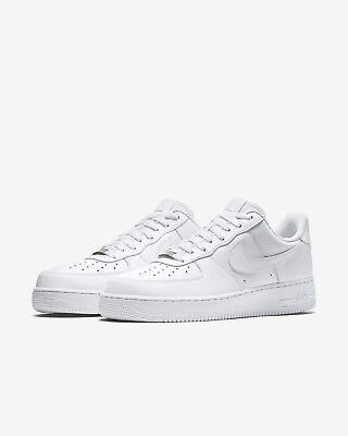 NIKE Air Force 1 One '07 Men's Low Casual White Leather Shoes New Size 9.5