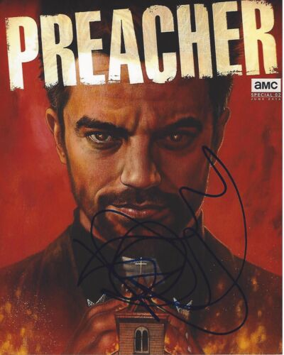 ACTOR DOMINIC COOPER SIGNED PREACHER 8x10 PHOTO A W/COA WARCRAFT DRACULA UNTOLD