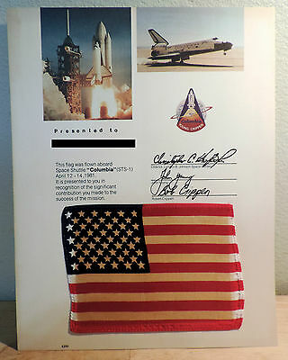 NASA Space Shuttle COLUMBIA STS-1 FLAG FLOWN on Mission