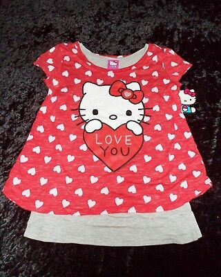 Hello Kitty Valentine (Valentine's Day Hello Kitty Love You Youth Girls T-Shirt (SIZES Small -)