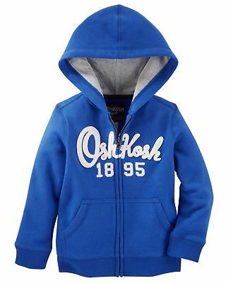 OshKosh Blue Heritage Fleece Logo Hoodie Jacket Baby Boy NWT Size 6 9 Months ()