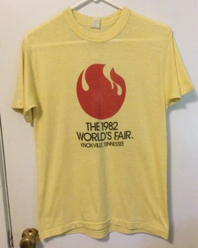 Vintage 1982 Worlds Fair Knoxville Tennessee TN T-Shirt yellow