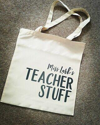 Personalised Teacher Stuff Tote Bag - Teacher Stuff