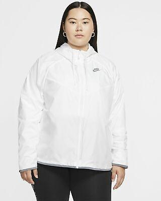 Nike Sportswear Hooded Windrunner Jacket Pallid Womens Plus Size 3X CJ0415-100