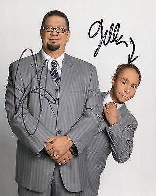 Penn & Teller - Illusionists/Magicians - Signed Autograph REPRINT