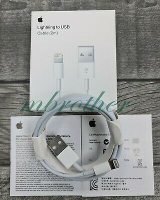 Genuine Original Apple iPhone 5s 6 6s 7 8 Plus 2m Lightning Lead USB Data Cable