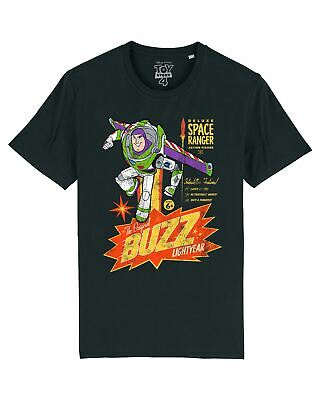 Disney Toy Story 4 Retro Buzz Lightyear Men's Black T-Shirt