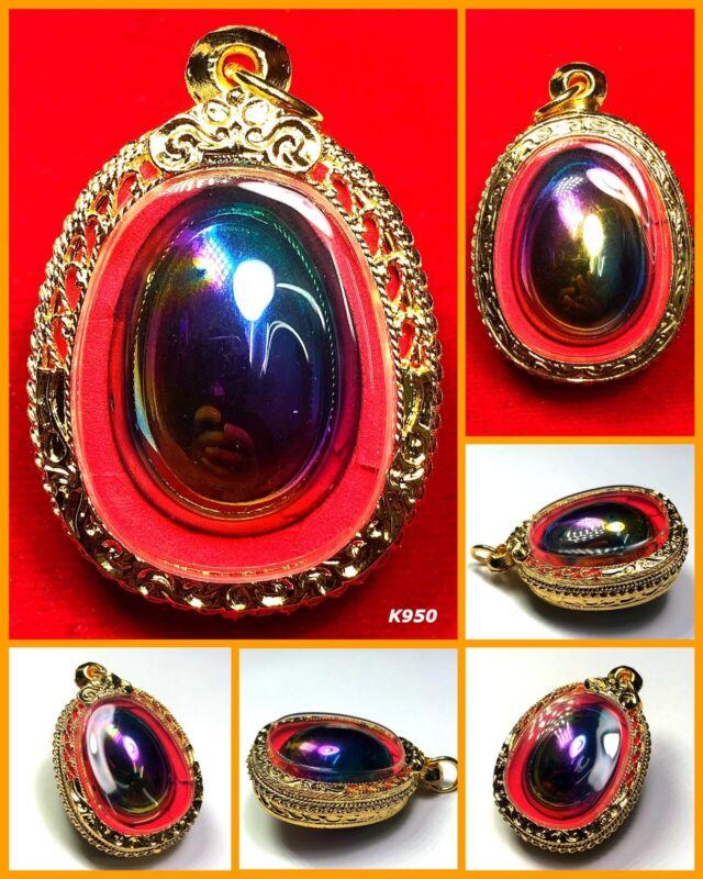 Leklai Egg 7 Color LP Huan Power Protect Magic Thai Amulet Buddha Talisman