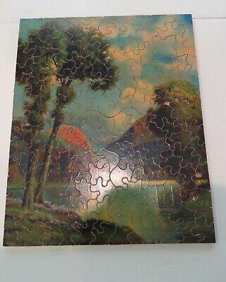 Vintage Premier (?) Wooden Jigsaw Puzzle Milton Bradley Complete