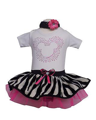 Girls Rhinestone Mouse Zebra Animal Print Sparkle Neon - Baby Zebra Kostüm