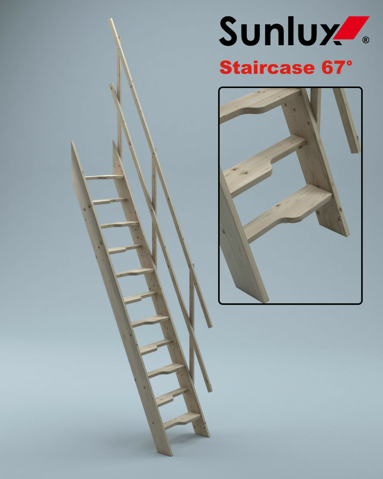 Wooden Staircase Kit Loft Attic Stairs