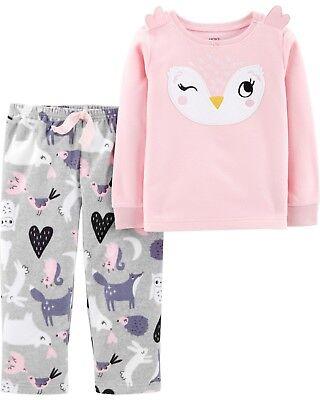 New Carters 2-Piece Owl Fleece Pajama Set Toddler Girl 3 4 5