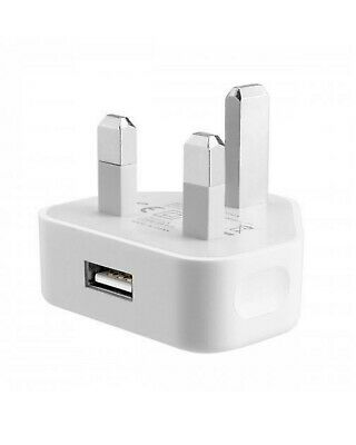 3 Pin UK Travel Plug Adapter Charger Wall Socket USB Port For Various iPhone