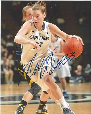 31c0360357d MAGGIE LUCAS Signed 8 x 10 photo WNBA Basketball ATLANTA DREAM Free Ship  PENN ST