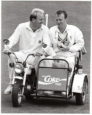 Original Press Photo New Zealand v England 12-17.2.1988 Greatbatch & Fairbrother