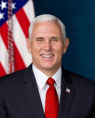 Vice President Mike Pence Official Portrait   8X10   High Quality Free Shipping