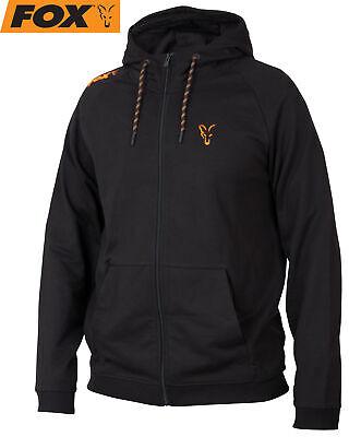 Fox Collection Black Orange LW Hoodie - Kapuzenpullover, Angelbekleidung