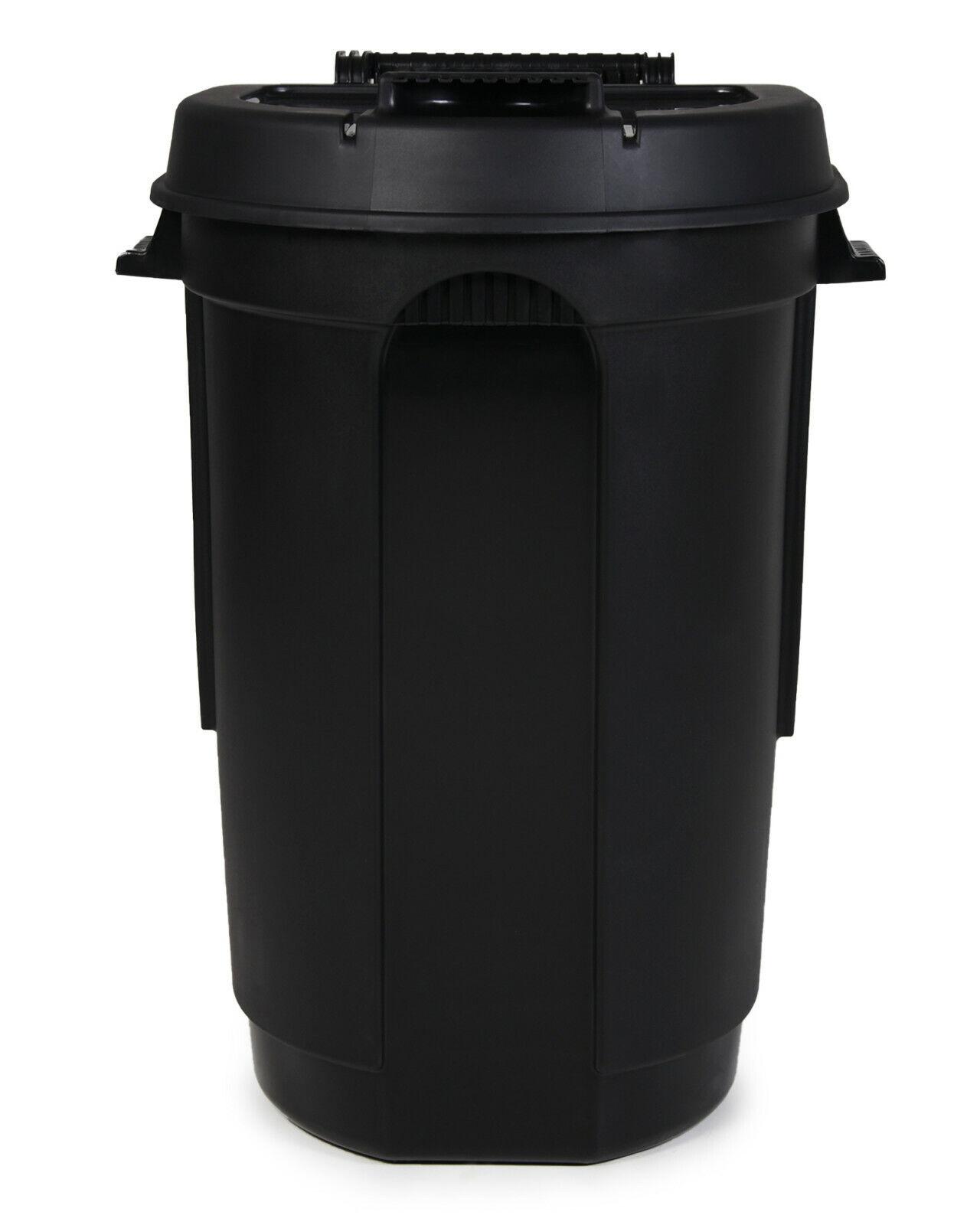 Gartentonne mit Rädern Mülltonne 110 L Abfalltonne mit Deckel Mülleimer Outdoor