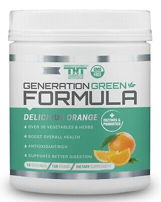 Generation Greens Powder | Best Organic Superfood Green Powder | 60 Powerful