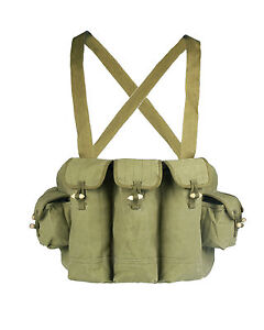 Loklode-Chinese-Military-Surplus-AK47-Chest-Pouch-Rig-Ammo-Mag-Bandolier-Type-56