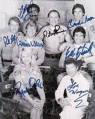 CHiPs signed Estrada & 7 cast 8X10 photo picture poster autograph RP