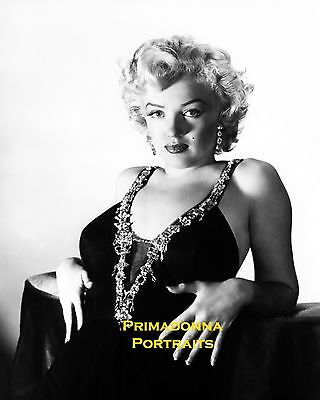 MARILYN MONROE 8X10 Lab Photo B&W 1950s HIGH FASHION, SEXY GLAMOUR GIRL PORTRAIT