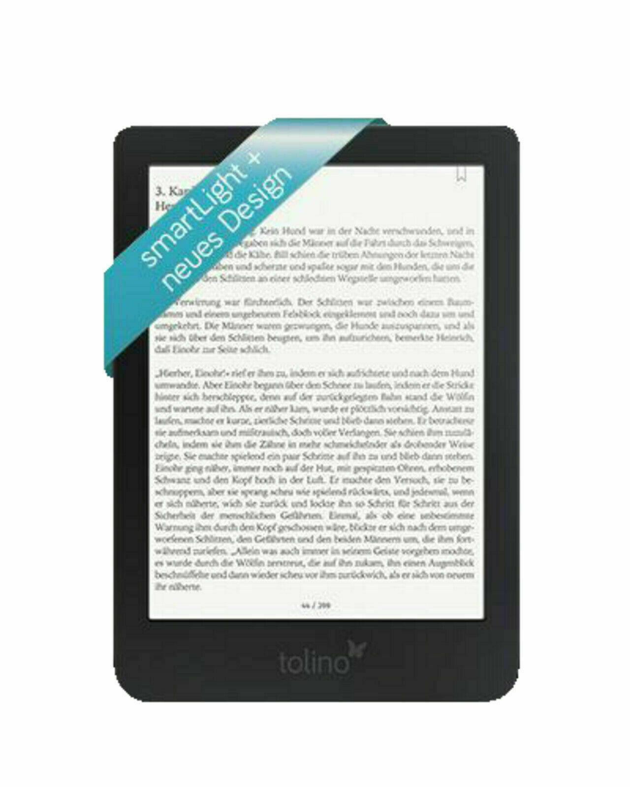 TOLINO shine 3 eBook Reader Schwarz mit integrierter Beleuchtung und WLAN *OVP*