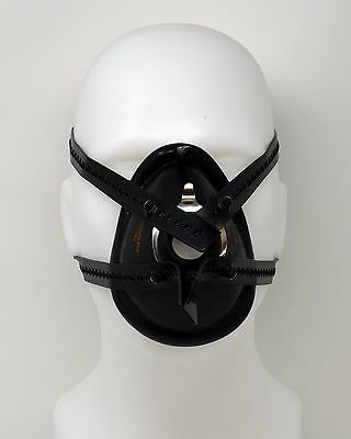 Anaesthesia Mask Harness - 4 Tail Type - Black Silicone Rubber
