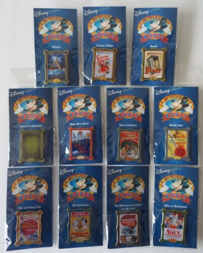 Movie Poster Series Pins 12 Months of Magic 2002 Disney Store Lot of 11 On Cards