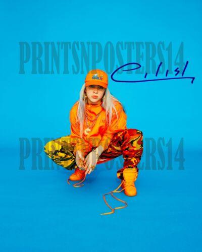 Billie Eilish singer 11x14 SIGNED REPRINT Photo/poster Dark POP #1